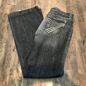 7 For All Mankind Gray Dojo Flare Jeans Size 30